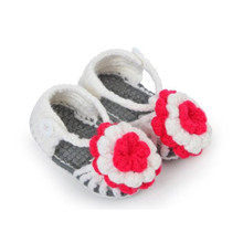 Hot Selling 2017 Fashion Summer Baby Girls Shoes Toddler Newborn Kids Baby Flower Knitting Lace Crochet Buckle Shoes on sale