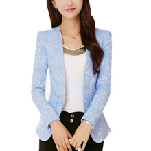 Women's 2016 Sprng small suit jacket female Korean Slim temperament small Blazers S M L XL XXL ZY372(China)