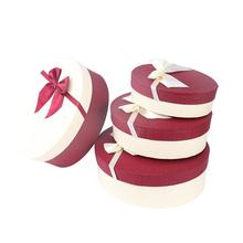 3Pcs/Set Chocolate Paper Case Wedding Event Party Candy Gifts Packaging Boxes With Ribbon Valentine Gift Chocolate Case 3