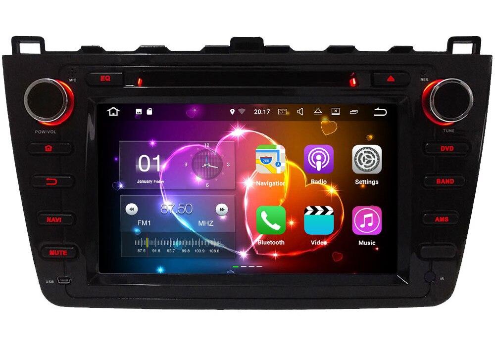 Quad Core 2GB RAM 16GB ROM 8″ Android 7.1.2 Car Multimedia Stereo radio player for Mazda 6 Ultra Ruiyi 2008 2009 2010 2011 2012