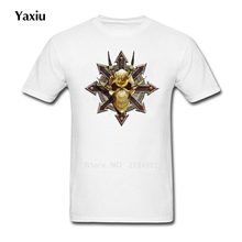 New Man T-shirts 2017 Summer Fashion Round O Neck Short Sleeves Custom T Shirt Men Casual Tee Large Size 3XL Chaos Star Khorne