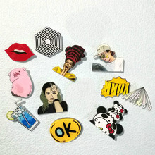 1 PCS Pin Badge Cartoon Acrylic Badges Icons on The Backpack Decoration Brooch Badges for Clothing(China)