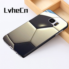 LvheCn phone case cover For Samsung Galaxy S3 S4 S5 mini S6 S7 S8 edge plus Note2 3 4 5 7 8 Soccer Ball Football Black