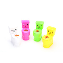Children Creative Industries Toys Mini Spray Water Jet Moving The Toilet Water Gun Gifts Practical Jokes(China)