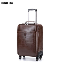 TRAVEL TALE men retro carry on hand luggage spinner travel suitcase vintage trolleys board baggage(China)