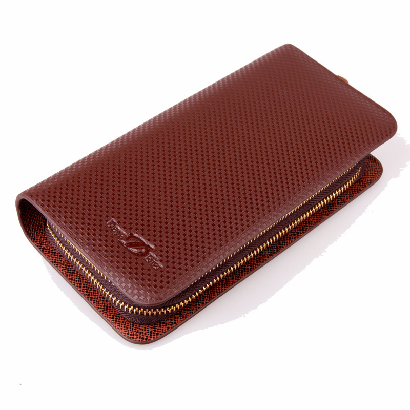 Fashion Bag Leather Mens Wallets Brand New Man Double Zip Top Purse Mens Long Card Wallets Cell Phone Wallets For Men<br><br>Aliexpress