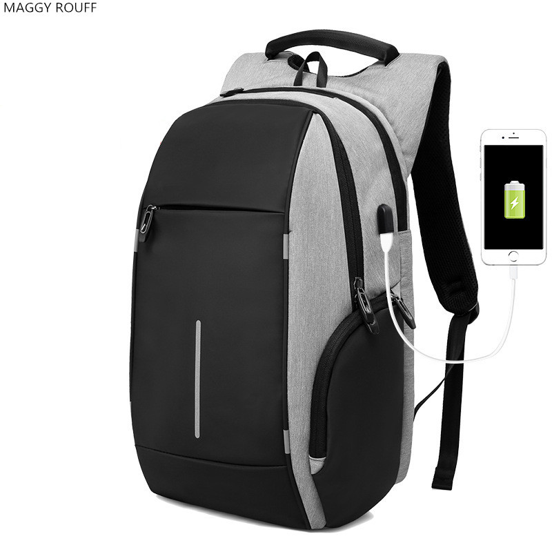 New Oxford Cloth Backpack Mens 20 inch Laptop Backpack External USB Charging Multi-Purpose Anti-Theft Backpack Lady Backpack <br>