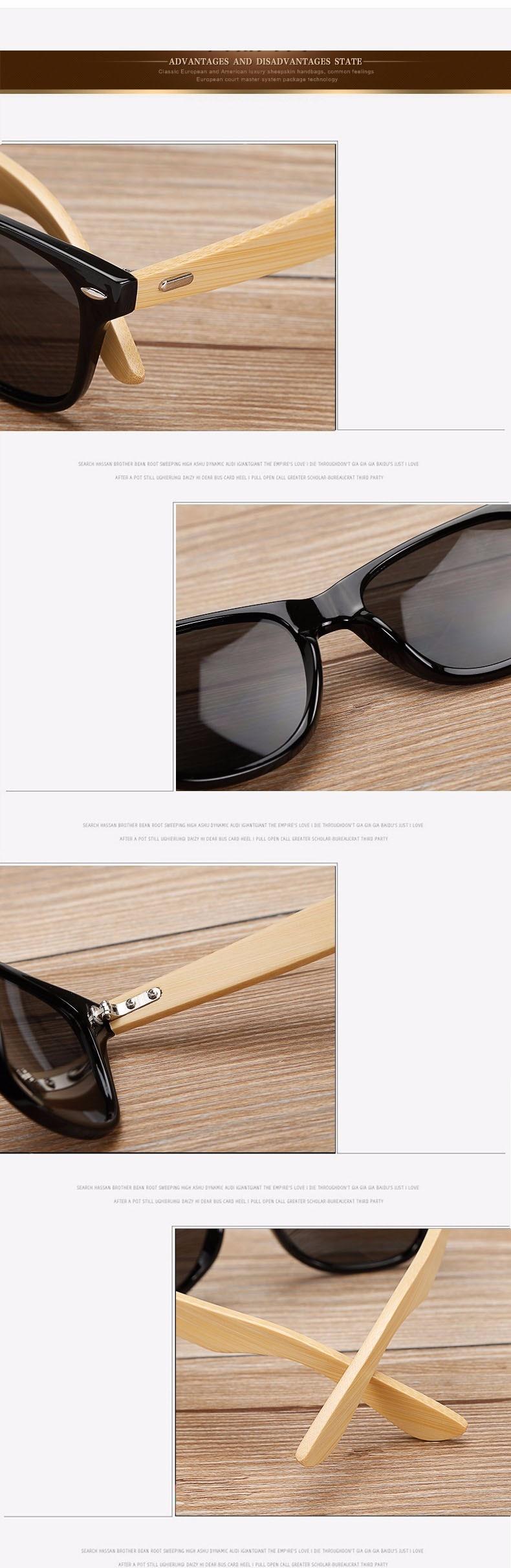 Ralferty Retro Wood Sunglasses Men Bamboo Sunglass Women Brand Design Sport Goggles Gold Mirror Sun Glasses Shades lunette oculo 18