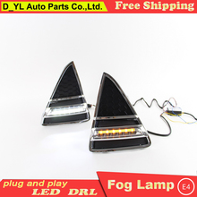 Car Styling Daytime Running Lights for Ford Focus LED DRL 2012-2013 Focus LED Fog Light  Front Lamp with yellow turu light