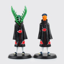 Hotsell 2pcs/set 14cm PVC japanese anime figures naruto Doll Uchiha Obito +Zetsu Naruto Action Figure Toy TT014