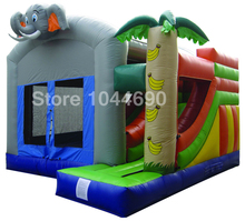 Free shipping inflatable bouncer slide,inflatable bouncer air blower(China)