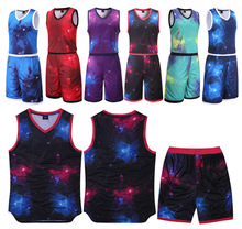 Starlight cool basketball jersey & basketball shorts 17-18 Blank style basketball vest training suit Breathable sportswear