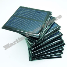 20pcs/lot solar panels 5.5v 90mA 0.6W mini solar cell 6.5x6.5 for Small power appliances drop shipping-10001024(China)