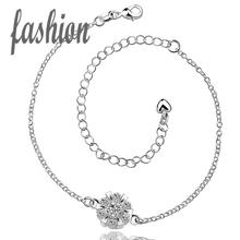 silver plated Anklet,New Design Fashion silver plated jewelry,Delicate Handmade Cheap Anklets for gift SMTA032