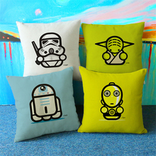 New Fashion Star Wars Back Pillow Cover Pillow Case Waist Pillowcase Cotton Home Use Decorative Pillowcase(China)