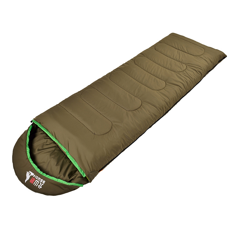 Quality Wind Tour Thermal Adult Sleeping Bag Autumn Winter Envelope Hooded Outdoor Travel Camping Water Resistant Thick<br>