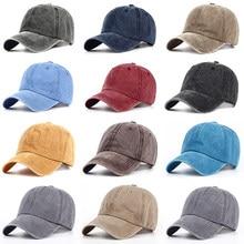 10 Color Women 100% cotton Snapback Caps Men dad Hats For Men Cotton Washed  Blank Vintage Baseball Caps wholesale 9f2ff61482ce