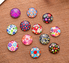 24X   16mm  Cartoon figure pattern Round  Handmade Photo Glass Cabochons & Glass Dome Cover Pendant Cameo Settings