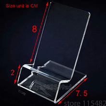 10*pec DHL fast delivery Acrylic Cell phone mobile phone Display Stands Holder stand for 6inch iphone samsung HTC