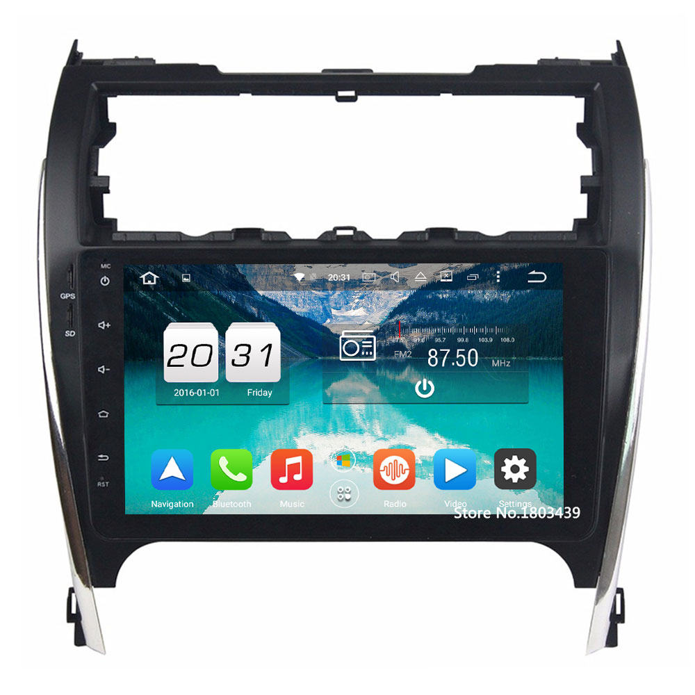 Android 6.0.1 Octa Core 2GB RAM 32GB ROM Car DVD PC 2 DIN Car Stereo Audio head unit HD GPS For Toyota Camry 2012-2017
