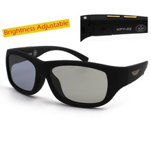 La Vie Original Design Sunglasses LCD Polarized Lenses Transmittance Adjustable Lenses Suitable Both Outdoors and Indoors(China)