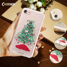 CASEIER Christmas Case For iPhone 6 6s Plus Case 3D Printing Mobile Phone Case Cover For iPhone 5s 5 iPhone 7 7 Plus Fundas(China)