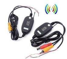 Wireless Parking Car B ackup RCA Video 2.4 Ghz transmitter Receiver kit for Car Wireless Rear Camera Reverse Car DVD GPS Monit(China)