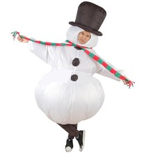 Christmas dress Fan Inflatable Costume For Men Women Funny Snow man Christmas Gift Inflatable Costume For Adults Cosplay(China)