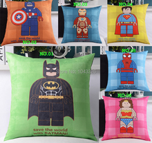 LEGO Hero Cartoon cushion Leather Cashmere Cushion seat pillow Cushions Pillow for office home Decoration sofa back cushions