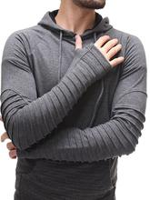 New Fashion Men's Skinny Hoodie Hooded Coats Sweatshirt Jumper Tops Outwear Mens Fashion Big Pocket Slim Hoodies