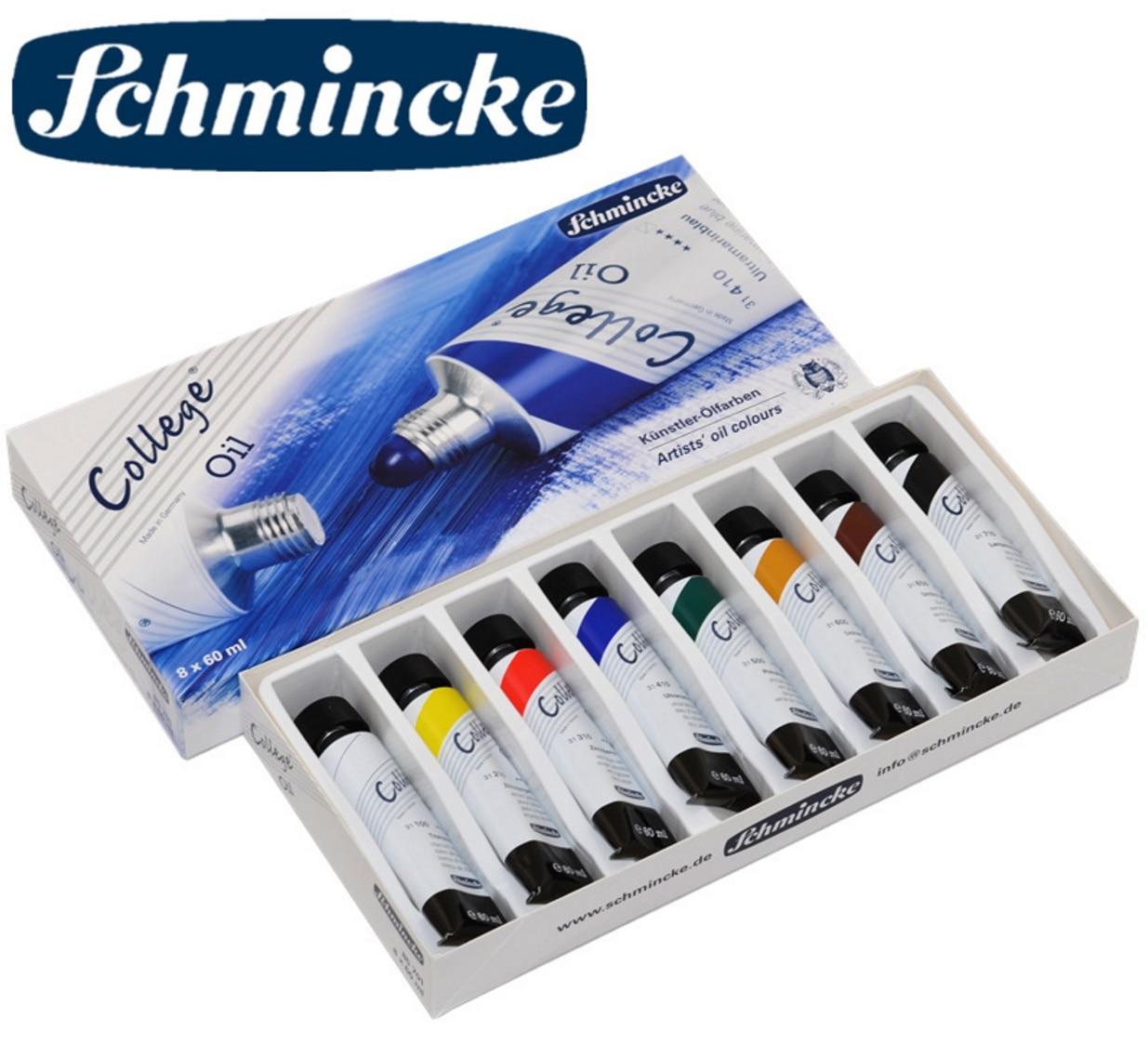 Germany Schmincke 8 color College level  Oil paints paper box suit 10 color Oil paints rofessional artist level wooden box suit<br><br>Aliexpress