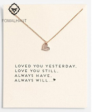 Sparkling heart Pendant necklace Heart Fashion Statement Clavicle Chains Necklace For Women FOMALHAUT Jewelry
