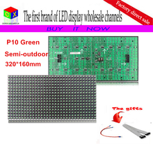 Semi-outdoor P10 PH10 Green LED Display Module Board For Indoor Sign 16*32 Dot Matrix(China)