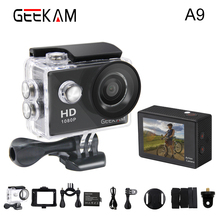 GEEKAM A9 Action Camera 1080P 140D Full HD 2'' Waterproof Outdoor Mini Cam 1920*1080 go Sport Video pro Camera hero 3 style