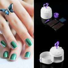 Shellhard White ABS Nail Perfect Kit Simple Nail Art Painting Equipment Nail Polish Tool 13x13x16cm(China)