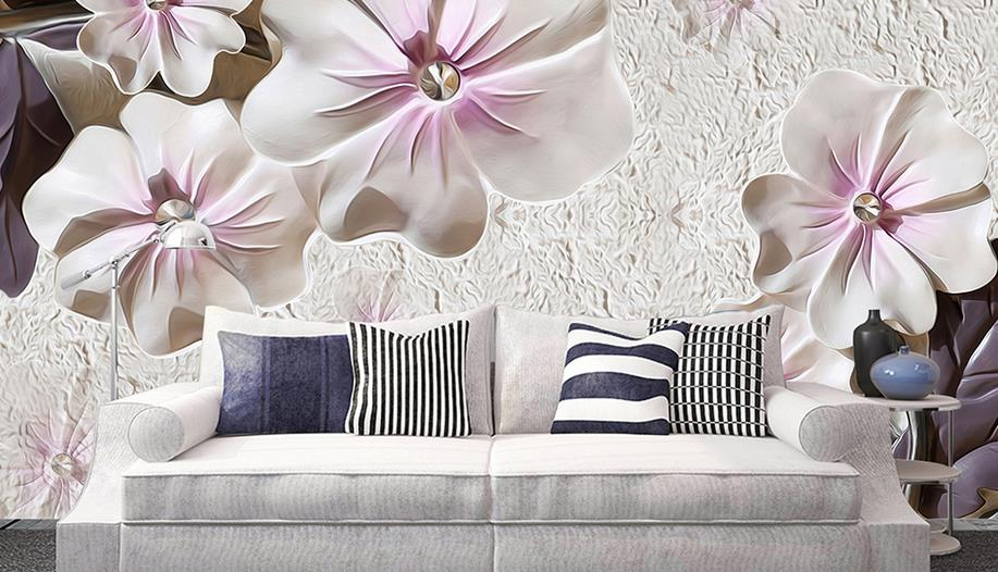 European style cafe wallpaper for walls Jewelry embossed flowers wall papers home decor photo wallpaper<br>