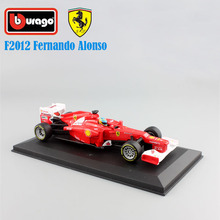1/32 Scale kids Formula 1 F1 2012 NO.5 Fernando Alonso metal diecast race cars model display office toy collection red for boys