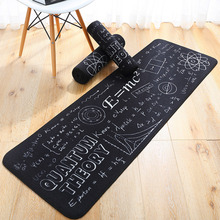 MDCT White Quantum Theory Formula Printed Polyester Black Carpet Rugs Office Sofa Chair Parlor Door Floor Mats Area Rugs Tapete