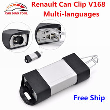 Newest V168 Renault Can Clip Diagnostic Interface Can Clip V168 For Renault Auto OBD2 Scanner Support Full Function Free Ship