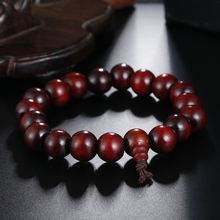 Buy High Fashion Retro Wood Beaded Jewelry Natural Sandalwood Bead Bracelets Buddha Beads Prayer Bracelet Men Women for $1.26 in AliExpress store