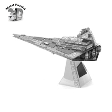 Wholesale 3D Metal Puzzles Earth Cut Model Jigsaws DIY New Year Gift Educational Toy For Kids Star Wars Imperial Star Destroyer