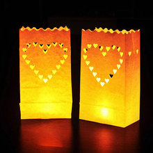 Best 10PCS Wedding Light Holder Luminaria Paper Lantern Candle Bag Valentines Day Gifts Party Decoration