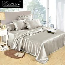 Lilysilk 100% Pure Mulberry Silk Duvet Cover 25mm Seamless Luxury Solid Color Twin Full Queen King Size Free shipping(China)