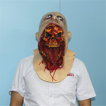 1 PC New  Halloween Cosplay Latex  Bloody Zombie Mask Melting Face Walking Dead Scary Party Mask Mardi Gras Ball Masks VDZ62T50