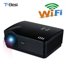 Uhappy H2 5500Lumens projector full hd Quad Core Android 4.4 WiFi Smart 1080P 3D  LCD Home Theater TV LED Projector Video Beamer