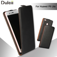 capa coque fundas Cover for Huawei P 9 Lite Leather Bag Vertical Flip Genuine Split Leather Cover Case for Huawei P9 Lite Case