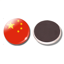 China Flag 30MM Fridge Magnet China Beijing Great Wall Shanghai Glass Dome Magnetic Refrigerator Stickers Note Holder Home Decor(China)