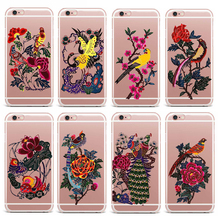 Case For iPhone 4s 7 X 6S 6 5S 5 8 7Plus 6 Plus 8 Plus Hard PC Case Mobile Phone Shell Flowers Patterned Abstract Antique Style(China)