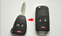 Replacement 3 Button Pad Flip car Key shell for Chrysler Jeep Dodge Ram 1500 Caliber Nitro Ram 2500 Ram 3500