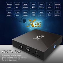 X96 Android 6.0 TV Box 2G / 16G Amlogic S905X Quad Core Bluetooth 4.0 2.4GHz 5.0GHz Duan Band WiFi HD 2.0 3D Media Player 4K